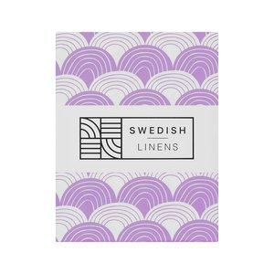 Swedish Linens Hoeslaken regenboog  Lilac (200 x 90 cm)