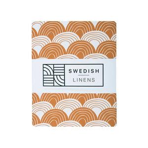 Swedish Linens Hoeslaken regenboog  cinnamon brown (200 x 90 cm)