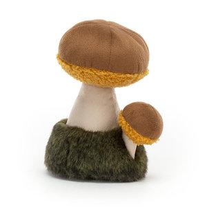 Jellycat Knuffel eekhoorntjes brood paddenstoel