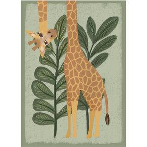 Klein & Stoer Kinderposter giraffe A4formaat