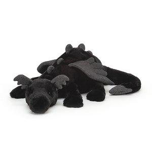 Jellycat Knuffel draak zwart