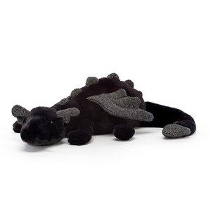 Jellycat Knuffel draak zwart klein