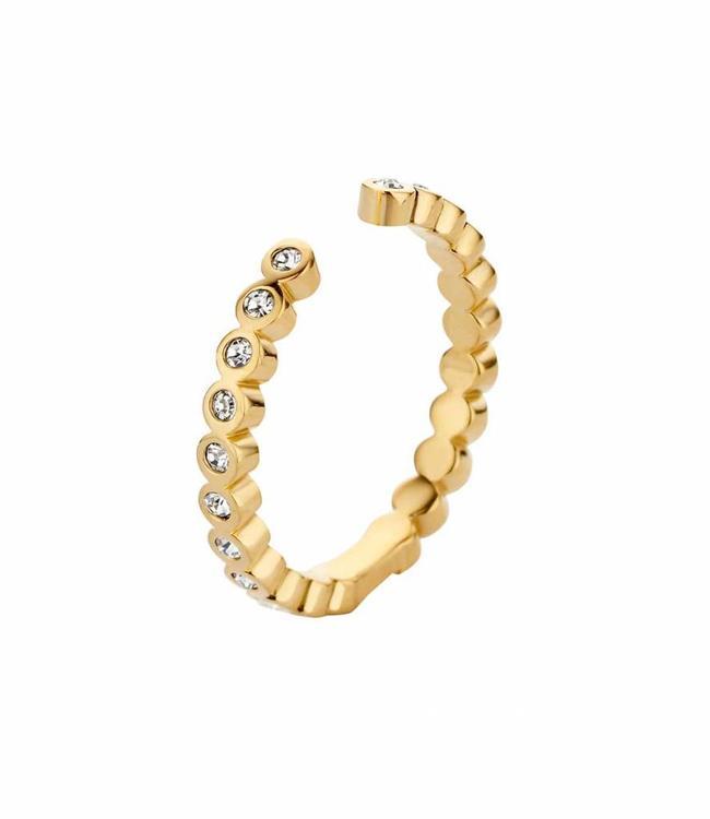 MelanO Ring Twisted Tina CZ, G
