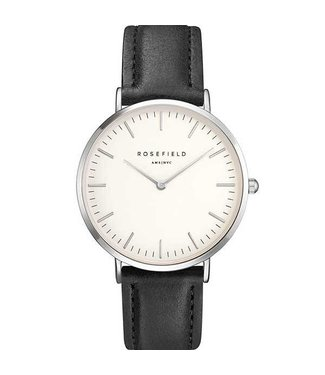 Rosefield Montre Bowery white black silver