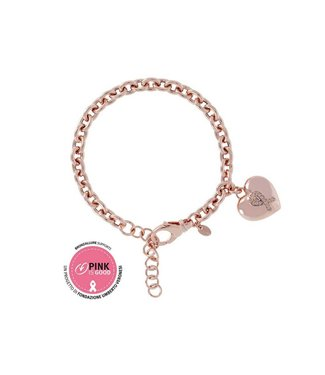 Bronzallure Armband Pink is Good Ribbon