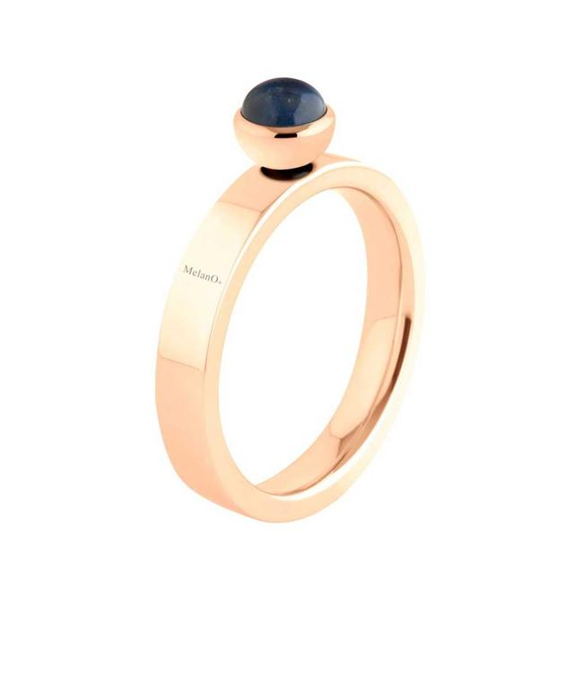 MelanO Twisted ring Tatum, Rose gold plated, smal