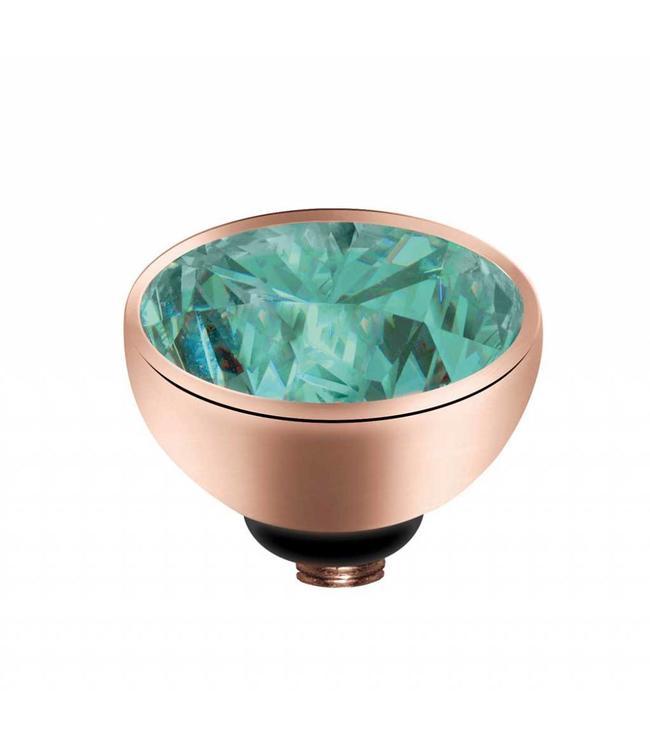 MelanO Twisted CZ setting, RG, Turquoise
