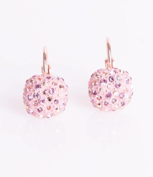 Phantasya Oorbel Crystal Square Hook Pink