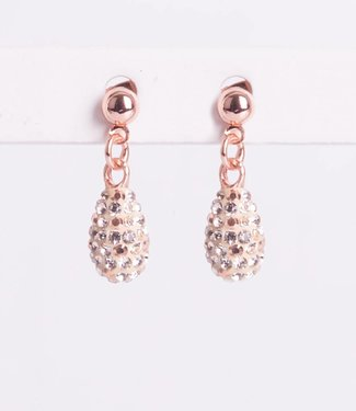 Phantasya Oorbel Drop Short Crystal Rosegold