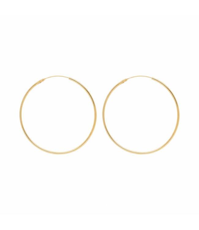 Eline Rosina Oorbel Large Hoops goud