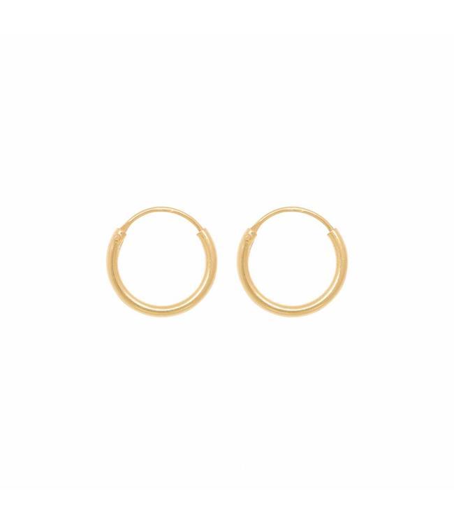 Eline Rosina Oorbel Tiny hoops goud (10mm)