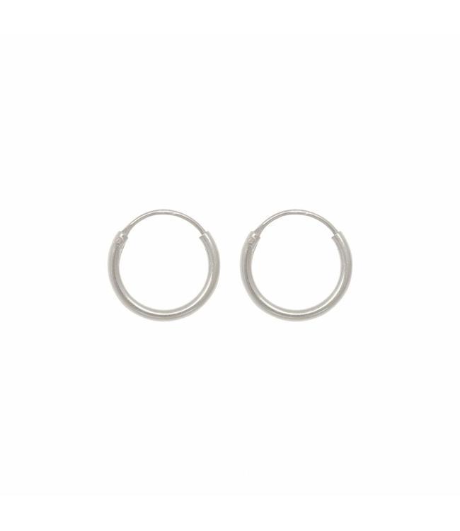 Eline Rosina Oorbel Tiny hoops zilver (10mm)