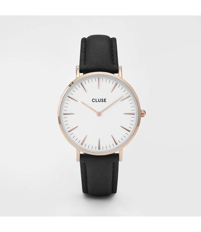 Cluse Montre La Bohème rose gold white/black
