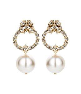 Souvenirs de Pomme Oorbel Bri 15 rinestones pearl