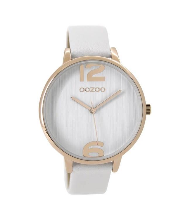 Oozoo Uurwerk Timepieces White Roségoud