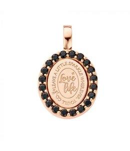 Mi Moneda Pendant Lolita 925 Silver Rosegold Plated Oval