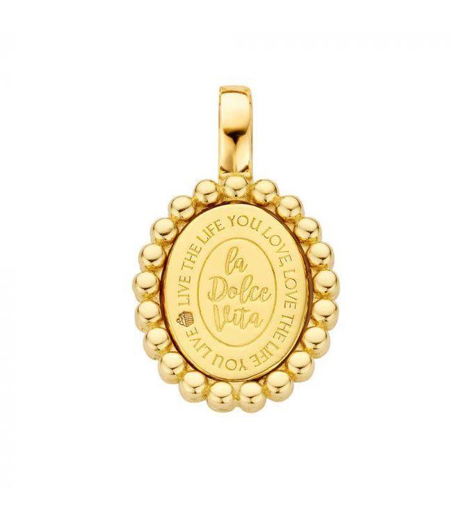 Mi Moneda Pendant Soho 925 Silver Gold Plated Oval