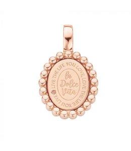 Mi Moneda Pendant Soho 925 Silver Rosegold Plated Oval