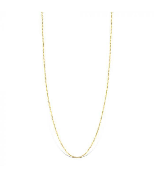 Mi Moneda Halsketting Bella 925 Silver Gold Plated