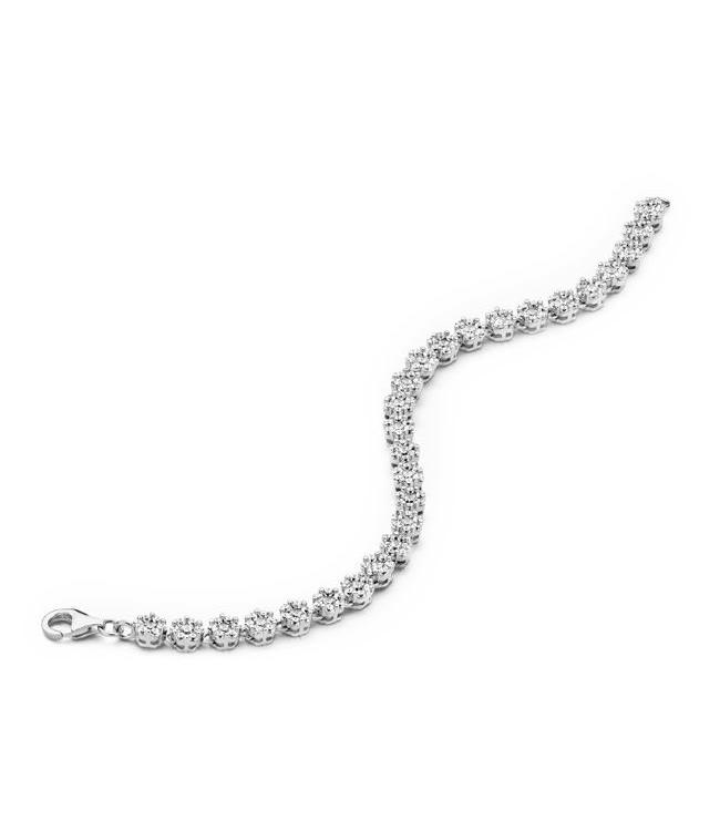 Silver Rose Armband Lucienne