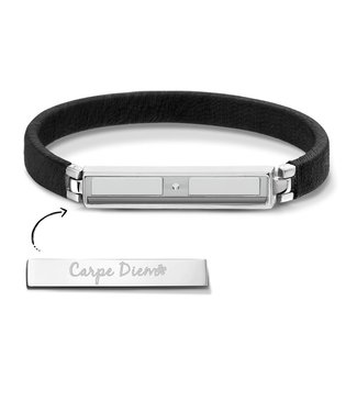 Take What You Need Armband Boho Black Silver