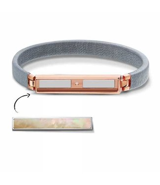 Take What You Need Armband Boho Grey Rosegold