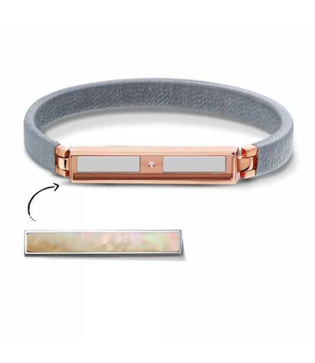 Take What You Need Armband Boho Grey Rosegold