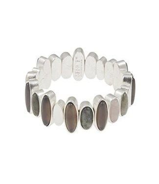 Sence Copenhagen Armband Oval Stones Silver