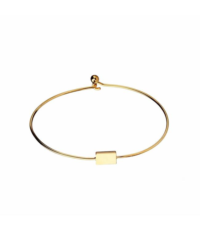 Murielle Perrotti Armband Square Gold