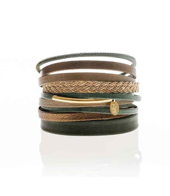 Murielle Perrotti Armband Army Brown