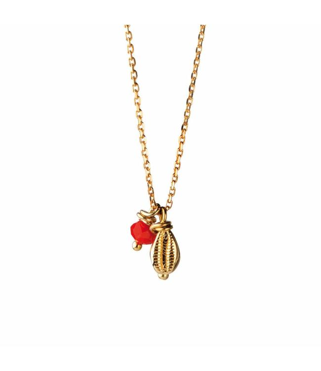 Murielle Perrotti Halsketting Shell Red