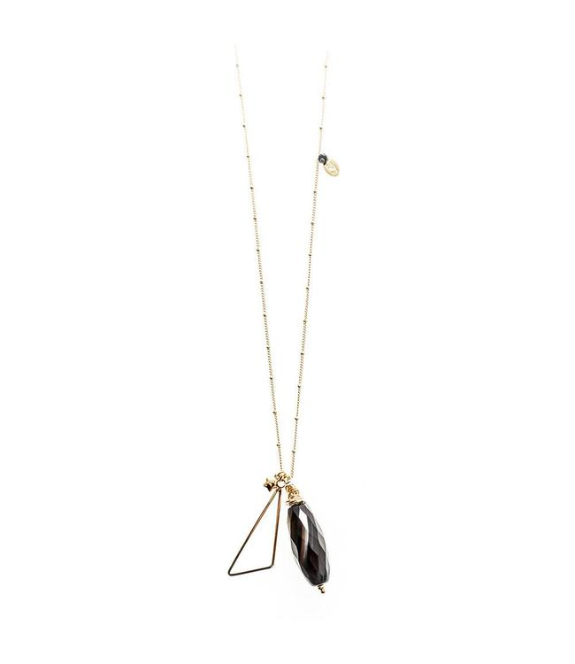 Murielle Perrotti Halsketting Triangle Black Stone