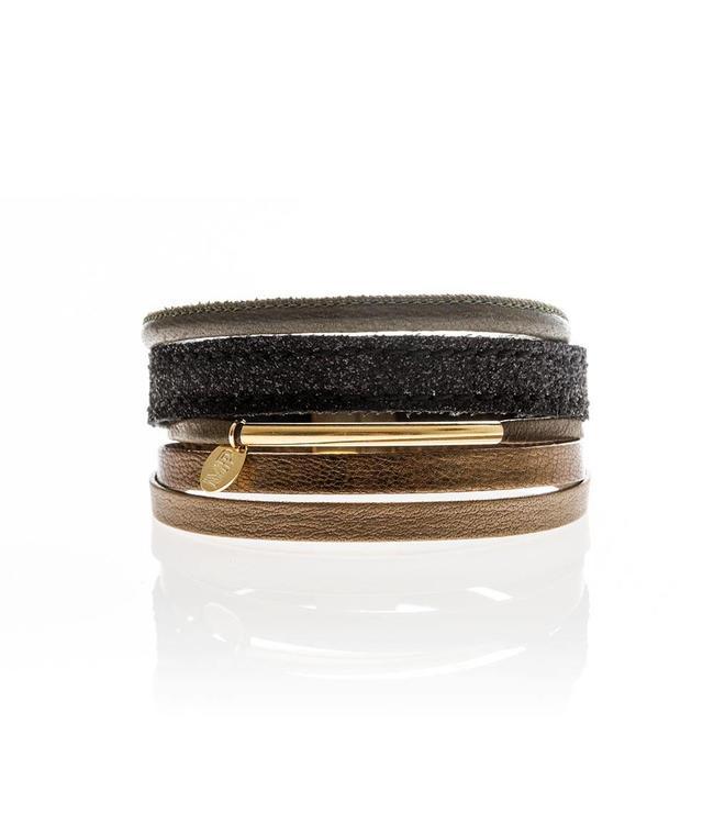 Murielle Perrotti Armband Dark Brown