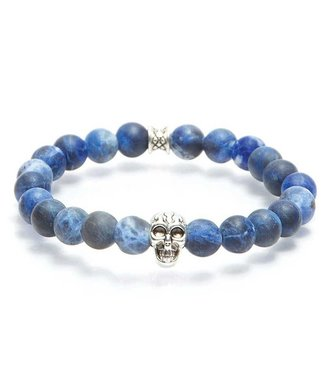 Gemini Armband Skull Mat Blue M