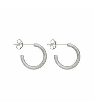 Eline Rosina Oorbel Midi hoops 14mm silver