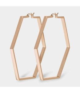 Cluse Oorbel Hexagon Essential Rosegold Large