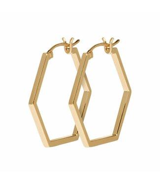 Cluse Oorbel Hexagon Essential Gold