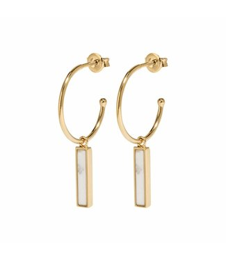 Cluse Earing Idylle Marble Bar Gold