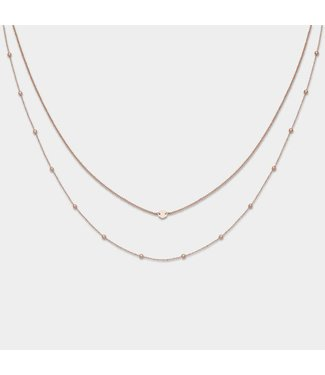 Cluse Halsketting Double Essential Rosegold