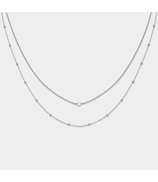 Cluse Halsketting Double Essential Silver
