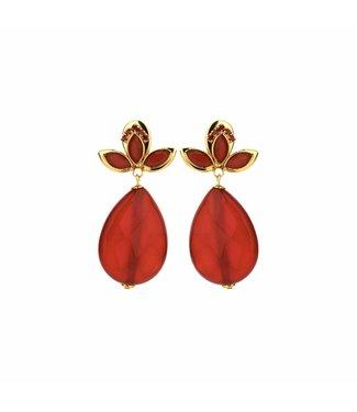 Souvenirs de Pomme Boucles d'oreilles Navette Fraise