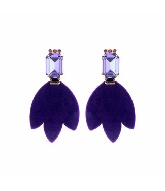 Souvenirs de Pomme Boucles d'oreilles Daniela Purple