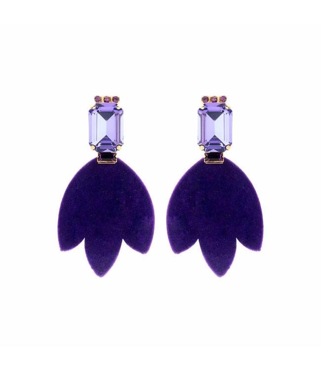 Souvenirs de Pomme Earring Daniela Purple