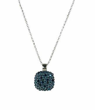 Phantasya Halsketting Crystal Square Blue