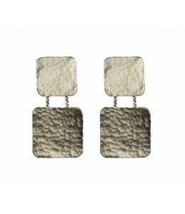 TAIM Oorbel Square Zilver