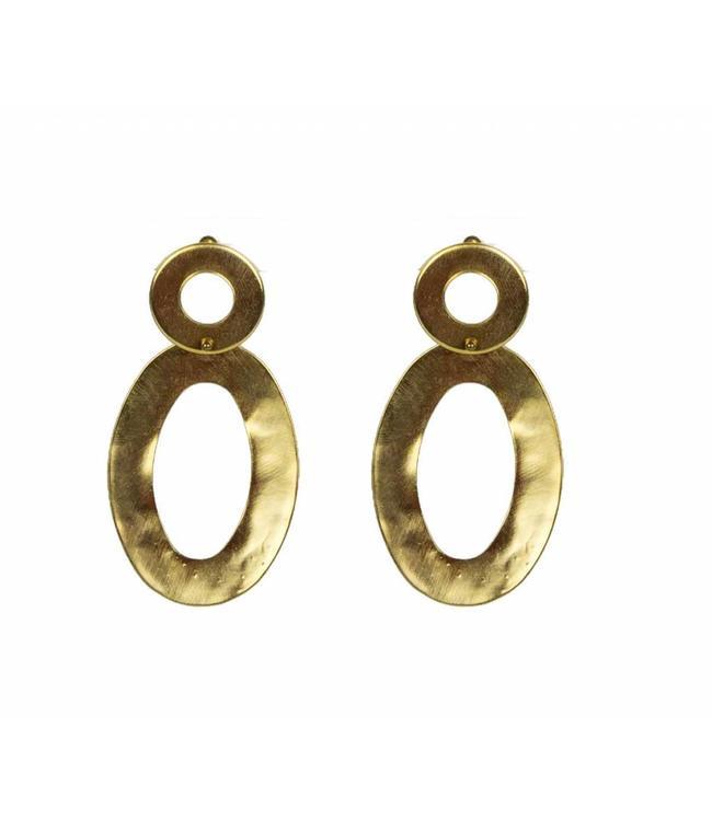 TAIM Oorbel Ovalis Gold