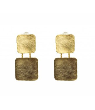 TAIM Oorbel Square Gold