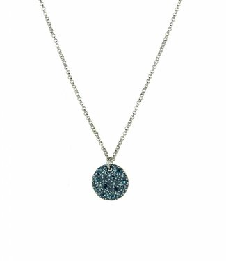 Phantasya Halsketting Crystal rond blue