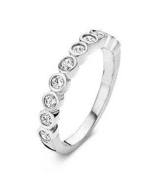 Silver Rose Ring zilver crystal