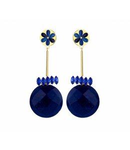 Souvenirs de Pomme Oorbel Peru Enamel Blue
